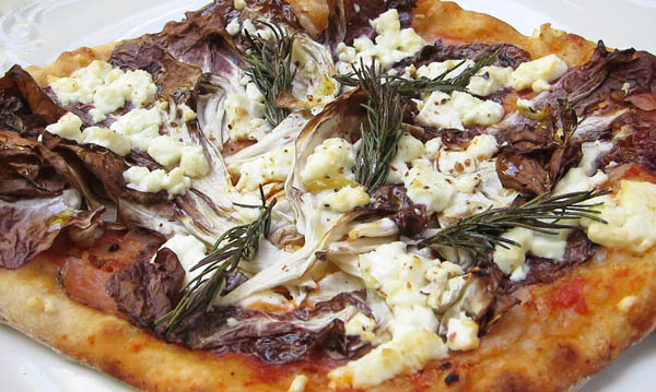 Pizza with Parma, Radicchio, and Goat Feta