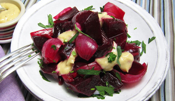 Roasted Beets, Fennel, and Shallots with Horseradish ...