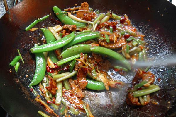 Stir Frying Szechuan Beef