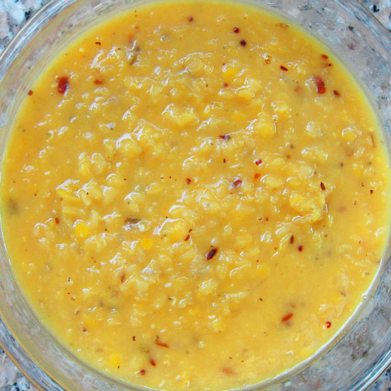 Masoor (split red lentil) Dhal