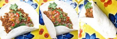 Folding Mexican Chorizo Tacos