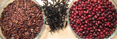 Dark Brown Rice Hijiki Aduki Beans