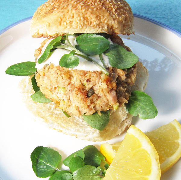 Tuna Fish Cake Sandwich