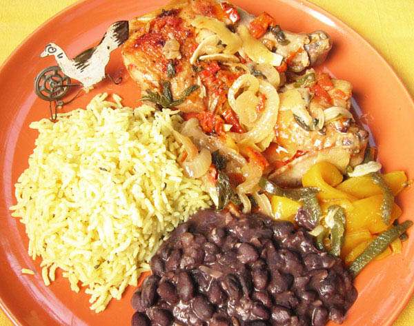 Mexican Citrus Chicken with Rice & Black Beans