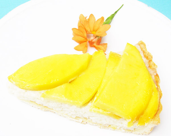 Mango Tart with Coconut Jasmine Rice Pastry Cream