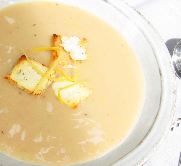 Chilled Lemony White Bean Soup