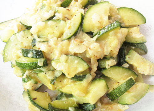 Braised Zucchini as a side dish.