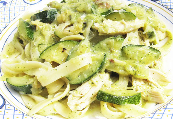Braised Zucchini with Pasta