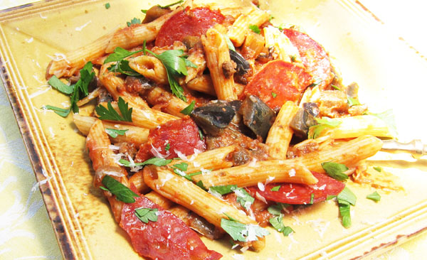 Andalucian Pisto with Pasta