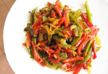 Flame Roasted Green and Red chile Rajas