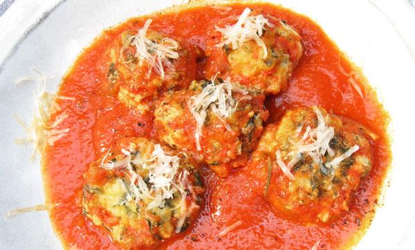 Malfatti;Italian ricotta and spinach dumplings