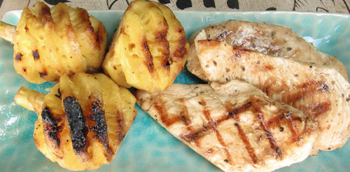 Grilled chicken and Pineapples