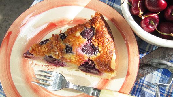 Fresh Cherry Frangipane Tart