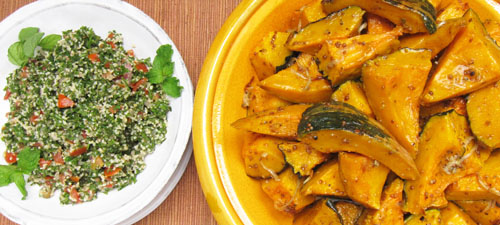 Roasted Kabocha Squach with Tabbouleh