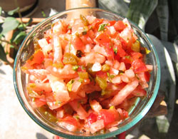 Salsa Fresca with roasted Radishes