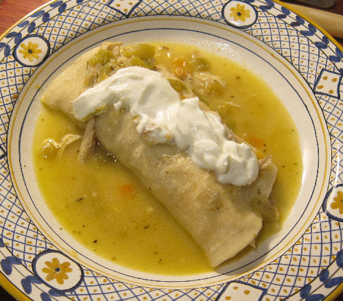 Roasted Chicken and Vegetable Enchilada