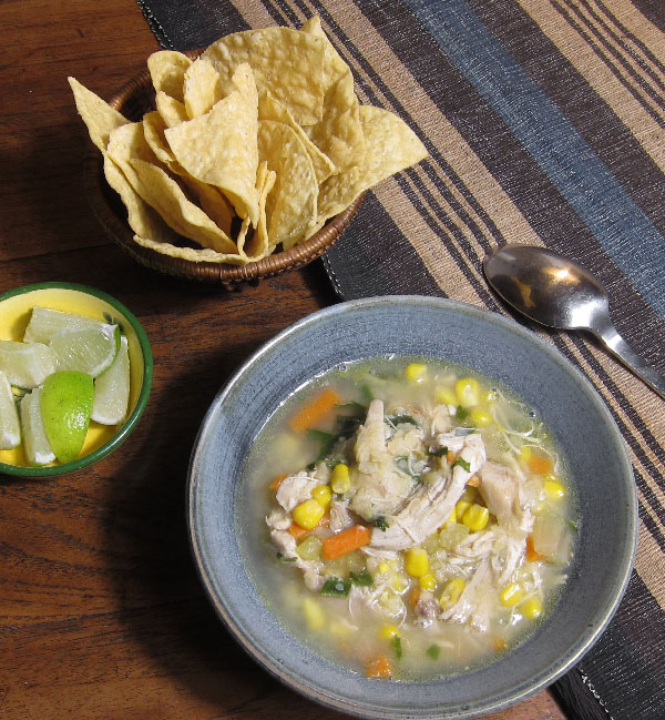 Mexican Rotisserie Chicken Soup