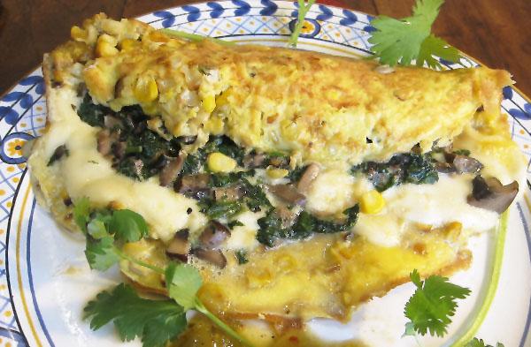 Huitlacoche omlette
